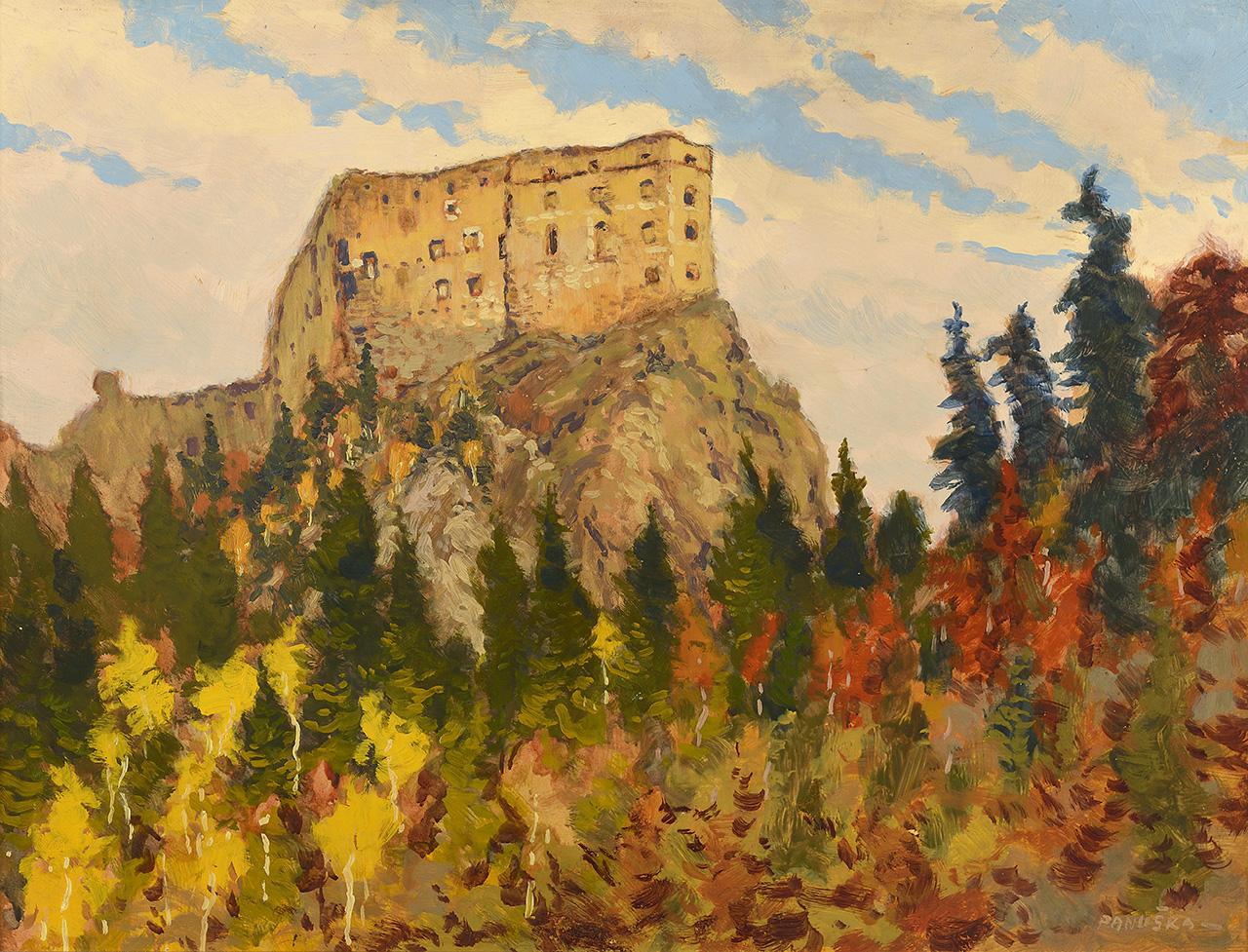 Likava castle, oil on cardboard, 48 × 64 cm, 1907
