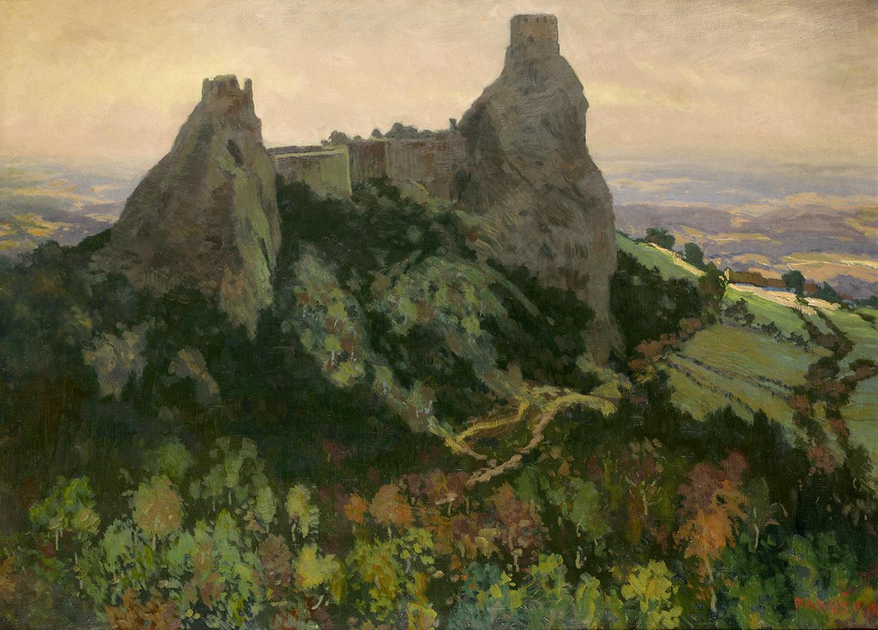 Trosky castle, oil on canvas, 71 × 98,5 cm, 1912–1914