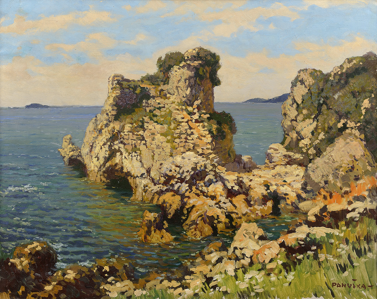 Ruins of Epidauros, oil on canvas, 19,5 × 24,5 cm, 1928–1929