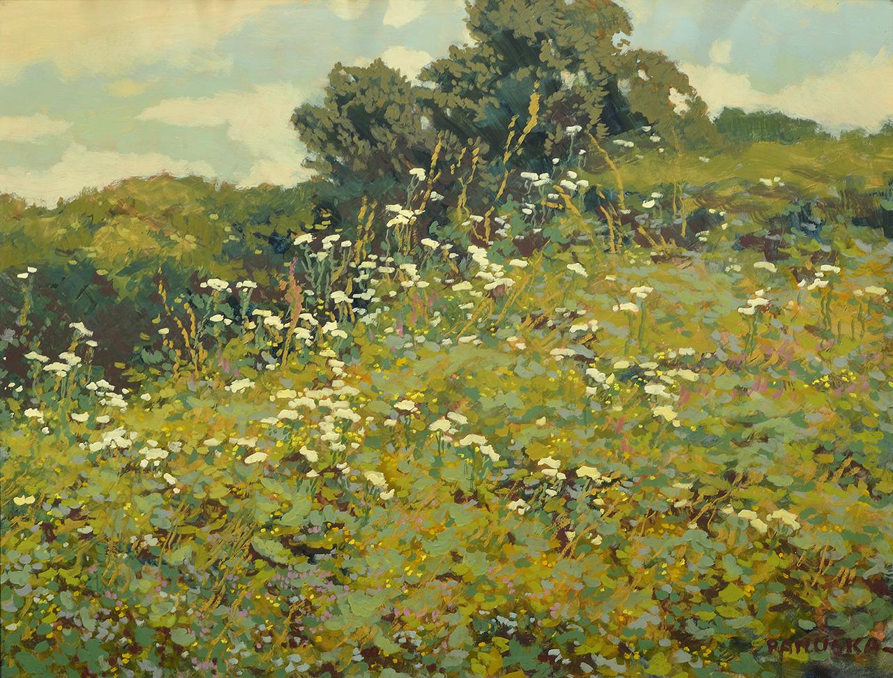 Meadow, oil on cardboard, 48,5 × 63,5 cm, 1930–1935